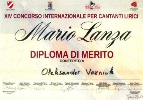 Diplom Mario Lanza